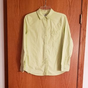 Old Navy Lime Green Button Down Blouse Sz SP